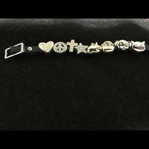 Adjustable 8 charm bracelet